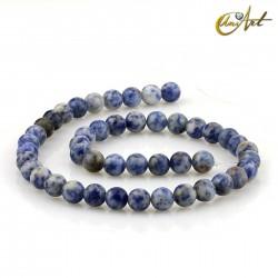 Mottled blue jasper 8 mm rond beads strand
