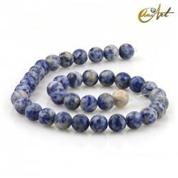 Mottled blue jasper 10 mm rond beads strand