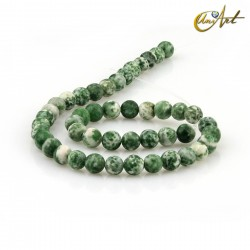 Spot green jasper 8 mm rond beads Threads