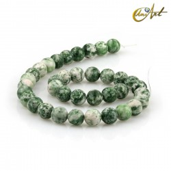 Spot green jasper 10 mm rond beads Threads