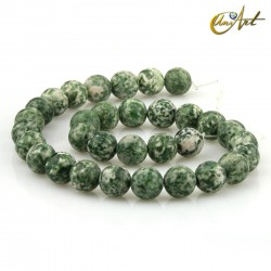 Spot green jasper 12 mm rond beads Threads