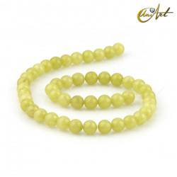 Lemon Jade 8 mm round beads