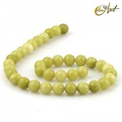 Lemon Jade 10 mm round beads