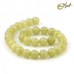 Lemon Jade 12 mm round beads