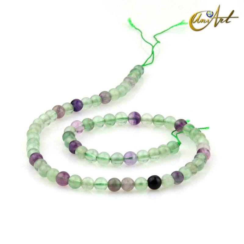Fluorite 6 mm rond beads