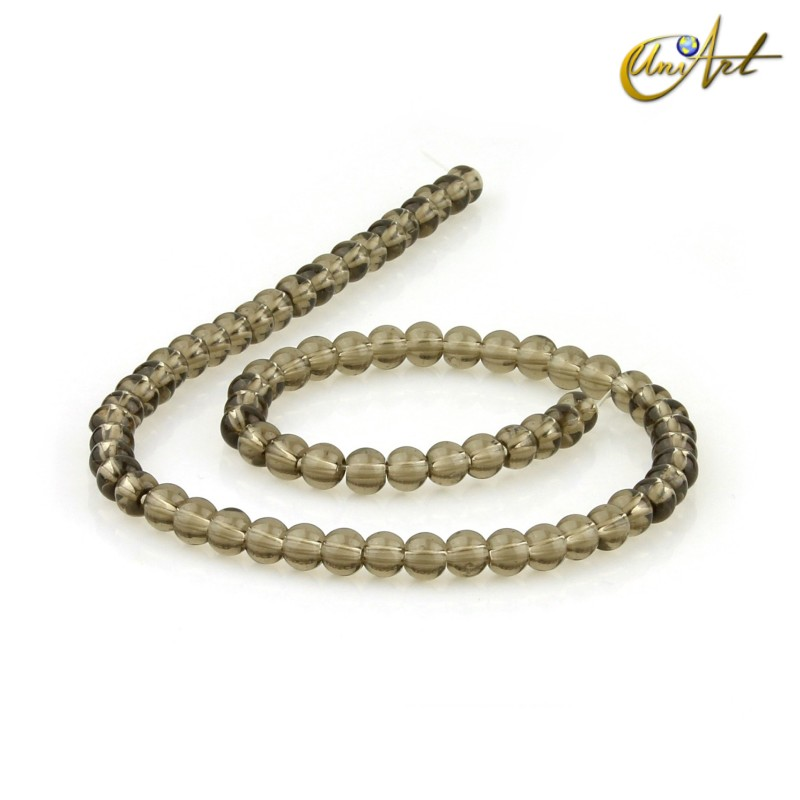 Smoky quartz 6 mm rond beads