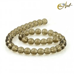 Smoky quartz 10 mm rond beads