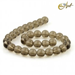 Smoky quartz 12 round beads