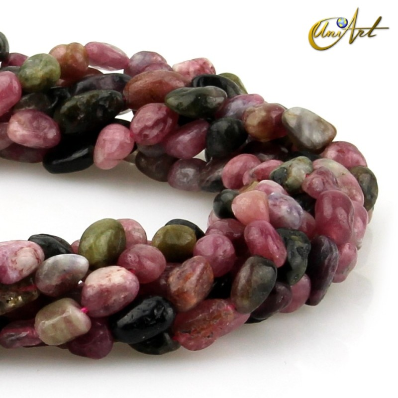 Colorful tourmaline irregular beads