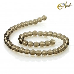 Smoky quartz 8 mm round beads