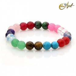 Colorful 8mm round beads bracelet