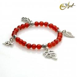 Charm Lucky bracelet - Carnelian