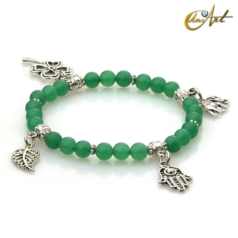 Charm Lucky bracelet -  Green Jade