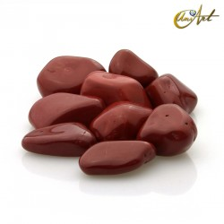 Red jasper tumbled stones in packet of 200 grs
