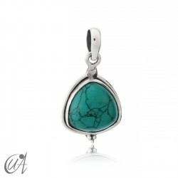 Trillant pendant in silver and turquoise