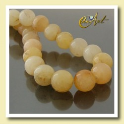 14 mm Round beads of Yellow Jade