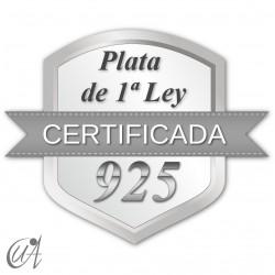 Colgante en plata 925 modelo gota liana