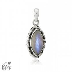 Colgante en plata 925 marquesa modelo Kore - piedra luna