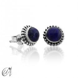 mini earrings - sterling silver and lapis lazuli, Ártemis