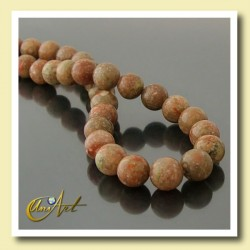 10 mm Round beads of Unakite