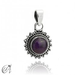 Suno pendant in 925 silver with natural amethyst