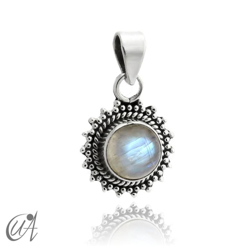 Colgante Suno en plata 925 con piedra luna natural