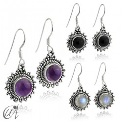 Suno earrings, stone with 925 silver