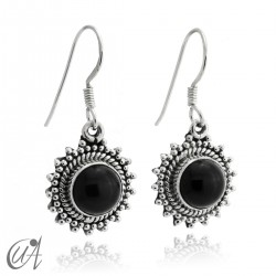 Suno earrings, onyx with 925 silver