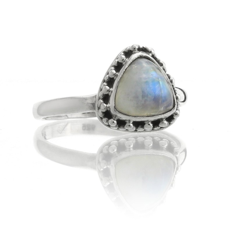 Moonstone ring in 925 silver, Thira