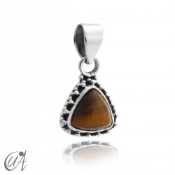 925 Silver pendant and tiger eye Thira model