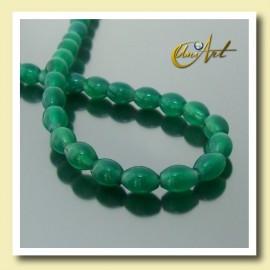 Hilo de Ágata Verde talla aceituna