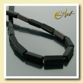 Black Agate Beads in retangular shape