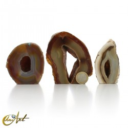 Collection of 3 agate geodes - set  3