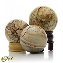 Picutre jasper spheres