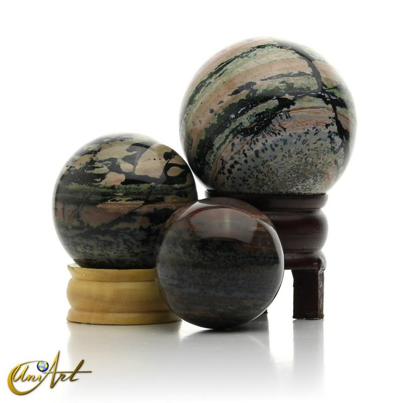 Jasper spheres