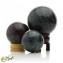 Ruby with kyanite sphere