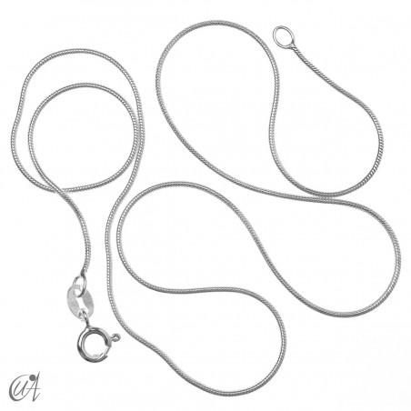 Cadena serpiente en plata 0.9mm