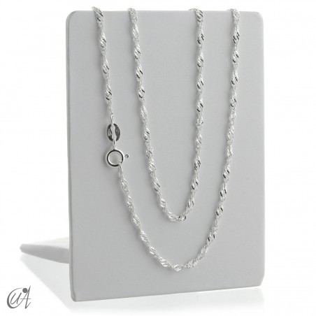 1.9 mm Singapore silver chain