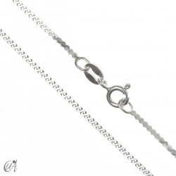 Sterling silver serpentine chain - 1.3mm