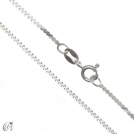 Cadena serpentina de plata de ley - 1.3mm