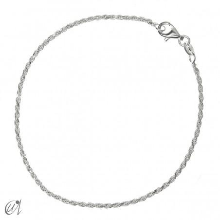 Cadena pulsera cuerda 1.6mm - plata 925