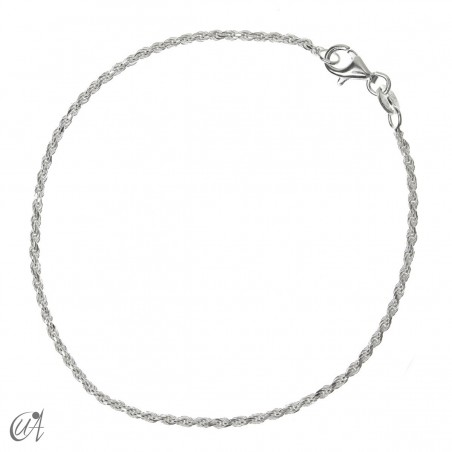 Rope bracelet chain 1.6mm - 925 silver