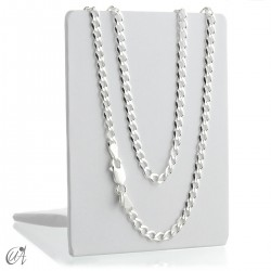 3mm diamond curb chain in sterling silver