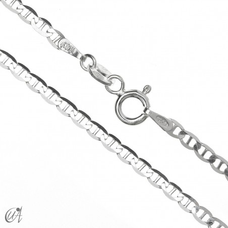 2.3mm diamond anchor chain - 925 silver