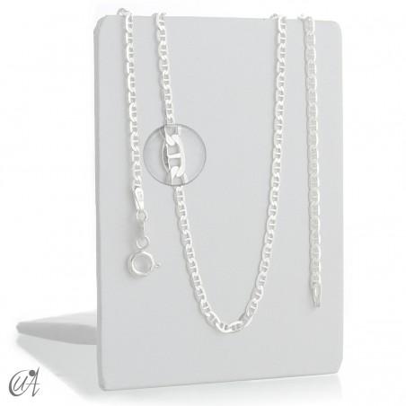 Cadena calabrote diamantada 2.3mm - plata 925