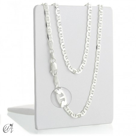 Sterling silver anchor chain - 3.18mm
