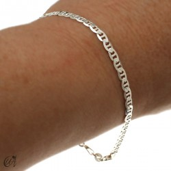 Sterling silver anchor bracelet chain - 3.18mm