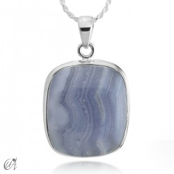 Chalcedony and silver - model 3