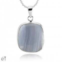 Chalcedony and silver - model 5