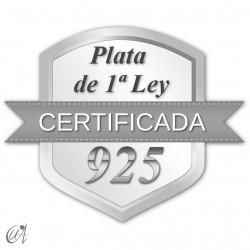Hechos en plata de 1ª ley certificada oficialmente.